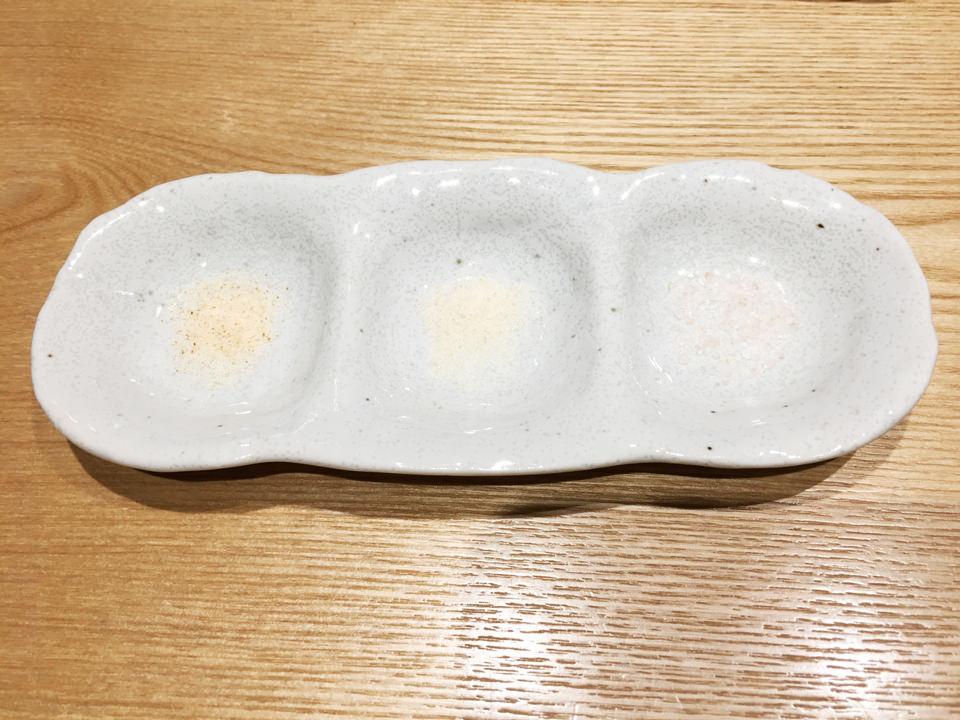 塩3種盛り