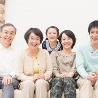 仲良し家族の写真