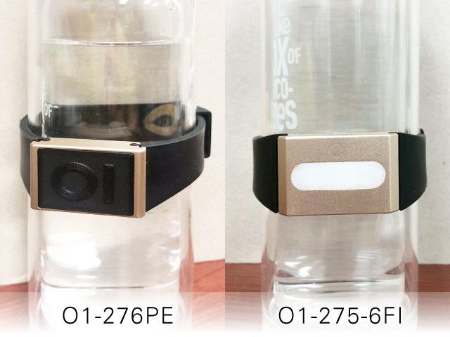 O1-276PEとO1-275ME、O1-275-6FIで水への波動転写を行なっている写真です。